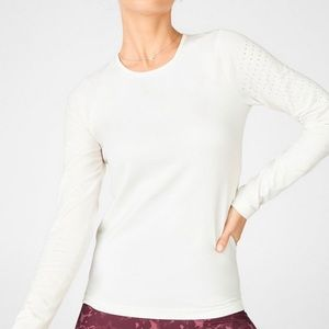 Fabletics Sync Long Sleeve ivory top